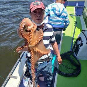 タコが大好きな孫達のため夏タコ釣りに行ってきました。