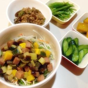 今日の料理 『夏野菜丼♪』