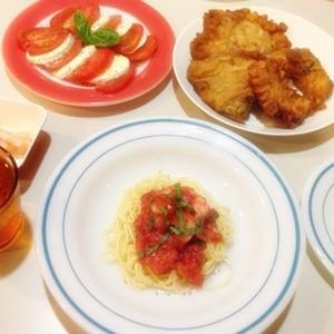 今日の料理 『冷製トマトパスタ♪』