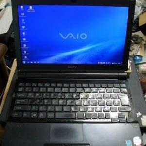 5年ぶりの電源ON。(SONY VAIO VGN-TZ73B)