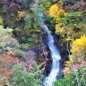 蛇淵(じゃぶち)の滝/秋山郷紅葉