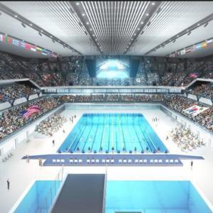 東京オリンピック飛び込み水泳会場 東京アクアティックセンターお披露目