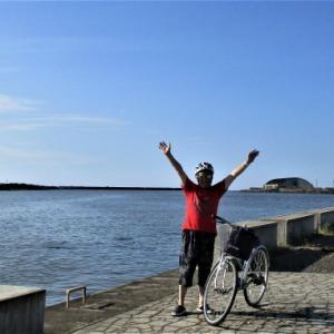 サイクリング 稲田橋から関川 直江津海へ