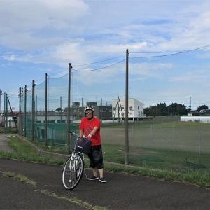 サイクリング 稲田橋から関川 北城球場
