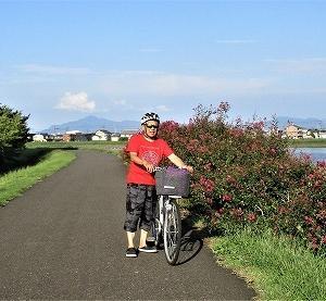 サイクリング 稲田橋から関川 労災病院側