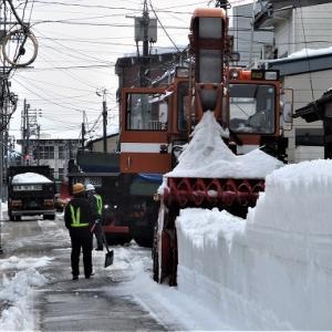 上越市高田大町4排雪