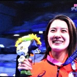 7/25東京オリンピック水泳 女子400m個人メドレー 大橋選手金メダル