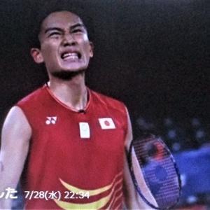 7/28東京オリンピックバトミントン男子シングル 桃田選手1回戦で負ける