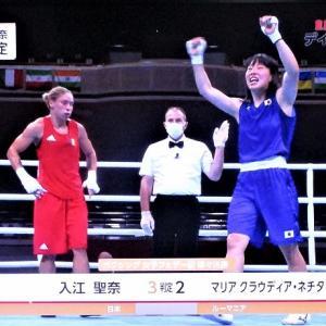 7/28東京オリンピック ボクシング女子フェザー級 入江選手史上初のメダル確定