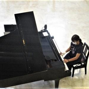 たかだ花ロードウィーク始まる 高田本町ストリートピアノ