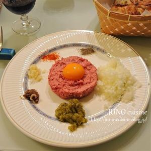 男の料理!☆シャトーブリアンのタルタルステーキとビーフステーキ☆