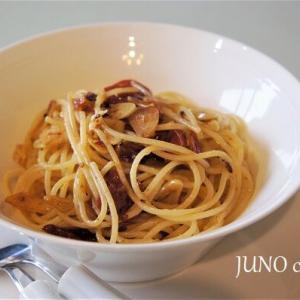おうちでも作れる本格パスタ☆ドライトマトのアーリオ‐オーリオスパゲッティ☆