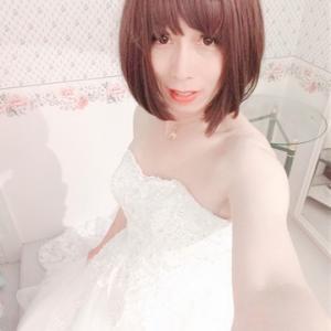 jun in a wedding dress
