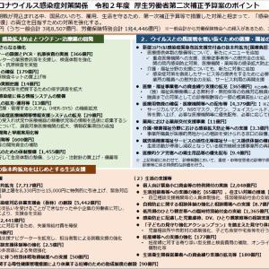 新型コロナウイルス感染症対策関係 令和2年度厚労省第二次補正予算案のポイント