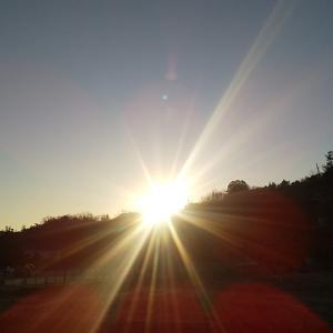 スカッと晴れた朝