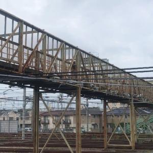 三鷹電車区の跨線橋