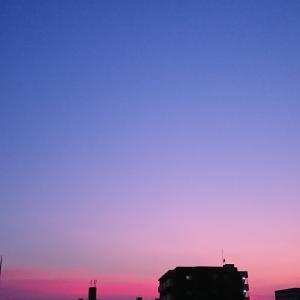 夏の空はピンク色で♡の日だった♡