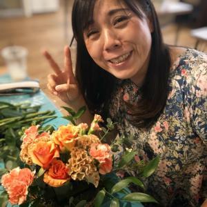 楽しい!!がなければ続かない♡癒しのフラワーレッスンはパリスタイルで^^