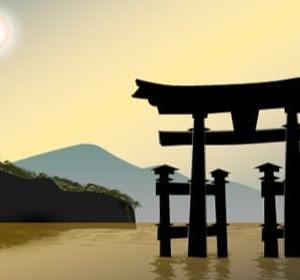 宮島 (シルエット画)