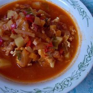 漬物展開スープと黒パン