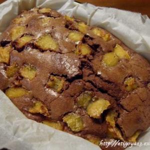 焼き芋のせチョコパウンドケーキ
