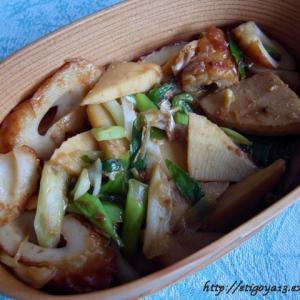 筍と竹輪の味噌炒め弁当