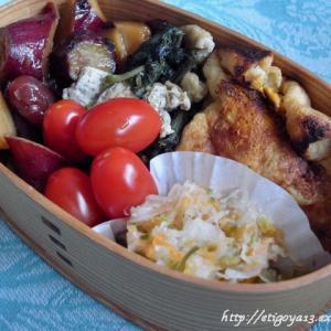 卵とキノコの佃煮焼き稲荷弁当