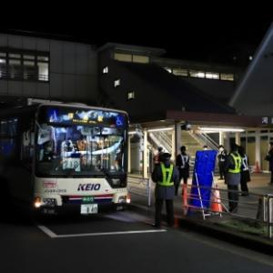 青梅線運休区間のバス代行輸送 河辺駅に京王バス(^^)