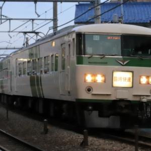 大宮総合車両センター185系 快速「鎌倉あじさい」号 青梅線入線は見納めでしょうか…(ToT)