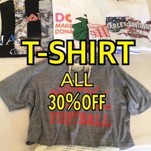 本日からT-shirt30%OFF✨