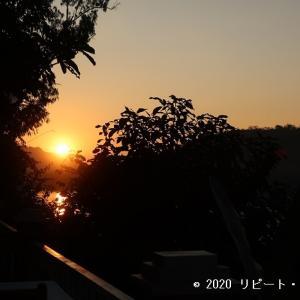 メコン川の美しい夕日