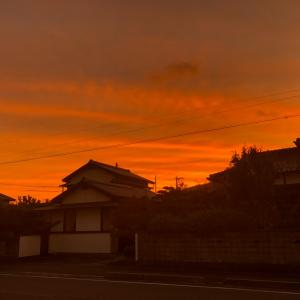 怖い夕焼け・・・替え芯・・・台風19号
