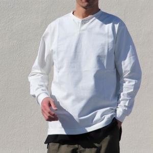 「探し求めていたTシャツ」コンチョボタンヘンリーネックロングT