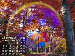 11月になりました(*^_^*)月初め恒例のカレンダー