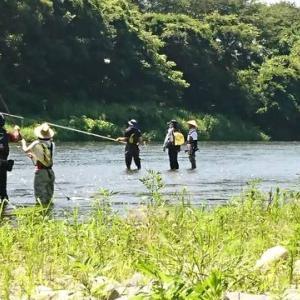 7月17日 那珂川初心者鮎釣り教室