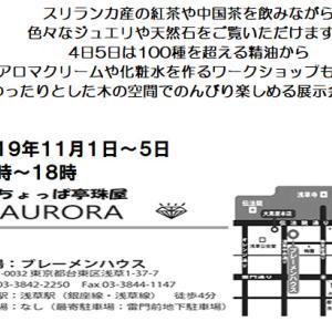 浅草で展示会します。