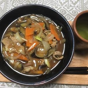 今日の昼食 具沢山のカレー0麺