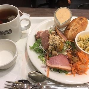 今日の昼食 ベックスコーヒーショップ「30品目プレート」