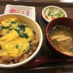 今日の昼食 すき家「オム牛丼」