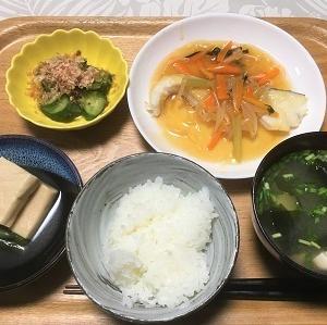 昨日の夕食 セブンプレミアム「こうや豆腐」など