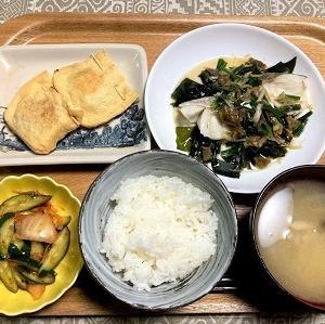 今日の夕食 タラの中華風レンジ蒸し