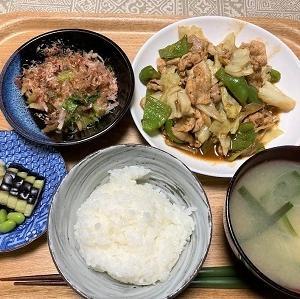 今日の夕食 枝豆の糠漬け