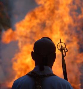広隆寺・聖徳太子御火焚祭