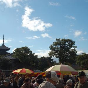 東寺の初弘法と弘法市