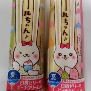 <sweets>ヤマザキ ロールちゃん 白桃ゼリー&ピーチクリーム