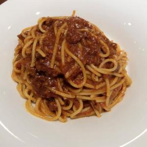 <gourmet>デニーズ All Beefのミートスパゲッティ+誕生日デザート