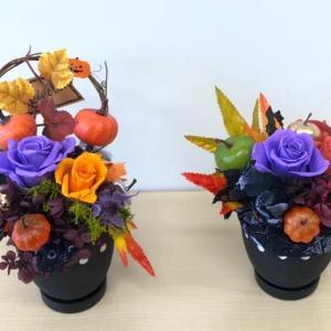 【プリザーブド】10月安曇野クラス・ゆったりとハロウィンアレンジ