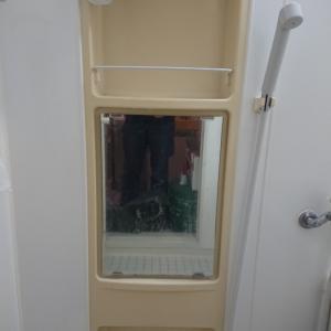 風呂フタと鏡