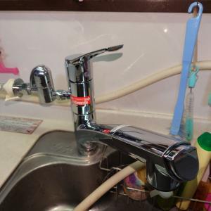 ホースも伸びる分岐付水栓