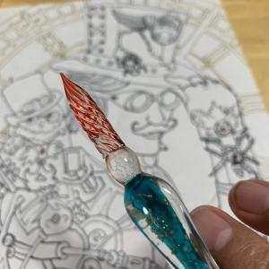 お絵描き ガラスペン